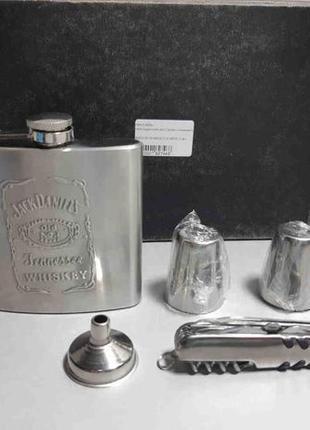 Фляга подарочная Jack Daniels с рюмками и ножом