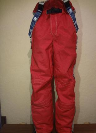 Классные плотные горнолыжные штаны на подтяжках riff&raff разм...