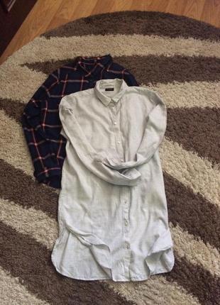 Шикарная длинная рубашка оверсайз