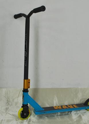 Самокат трюковой Explore Wave с колесами 100 мм желто-голубой