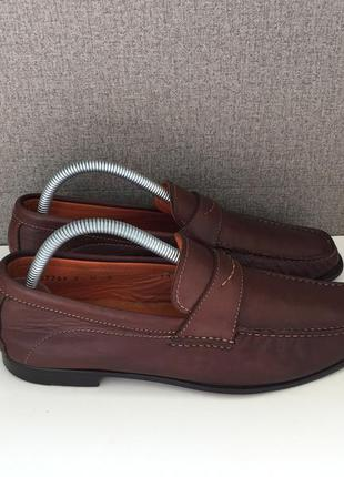 Чоловічі топсайдери santoni мужские мокасины туфли