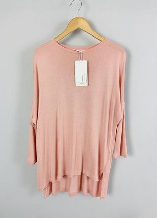 #розвантажуюсь  пастельно розовый удлиненный джемпер пуловер  ...
