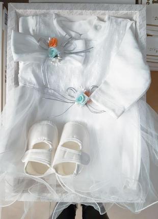 Комплект на крещение, подарочный набор в коробке