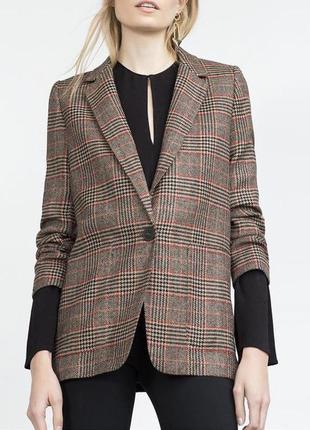 Шерстяной удлиненный пиджак, жакет  от zara