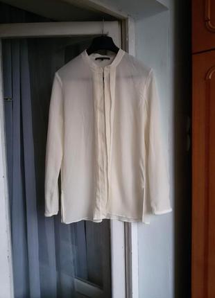 Элегантная шелковая рубашка блуза luisa cerano 100% шелк