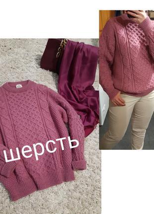 Шерстяной вязаный свитер/объёмный/косы, bonner  ireland, p. 12-16