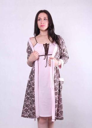 Комплект, халат и ночная сорочка