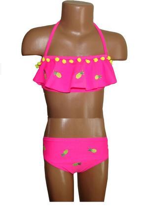 Модный купальник для девочки с рюшей