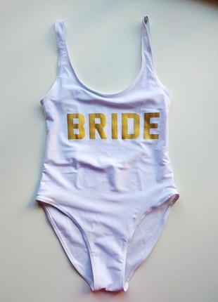 Белый купальник bride от primark