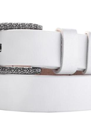 Женский ремень amoo emporio белый со стильной пряжкой