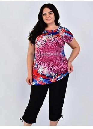 🌺 футболка женская больших размеров, 52-62