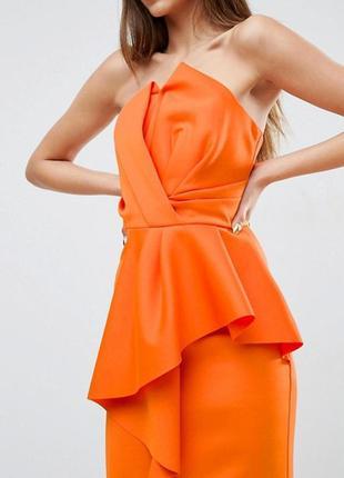 Невероятно красивое платье-бюстье миди asos