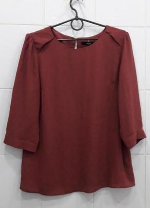 Стильная терракотовая шифоновая блуза