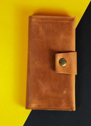 Кожаный кошелек onebl ручной роботы с винтажной кожи