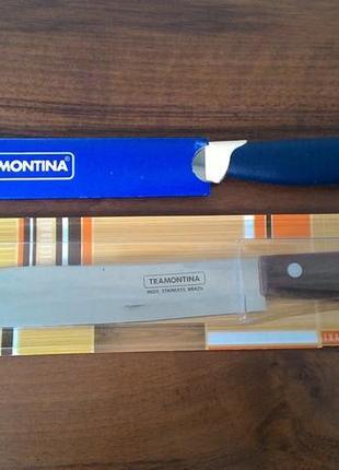 Нож для мяса кухонный TRAMONTINA Multicolor лезвие 178мм новый Ки