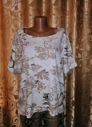 🌺🎀🌺красивая женская трикотажная футболка, блузка 22\24 р. tigi🔥🔥🔥