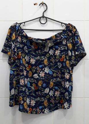 Стильная шифоновая блуза в красивый принт