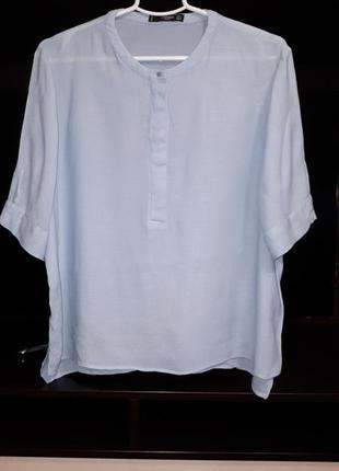 Красивая нежно-голубая блузка раз.l-xl