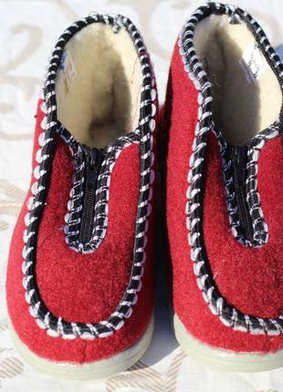 Комфортные теплые тапочки-ботиночки
