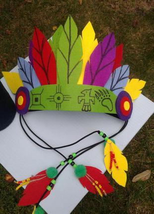 Набор индейца, костюм индейца, подарок индейцу.