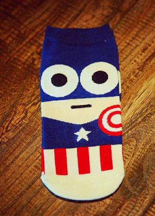 Носки harajuku хип-хоп бэтмен,капитан америка ,мстители коротк...