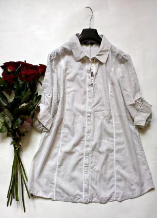Легкая натуральная рубашка, туника 18р