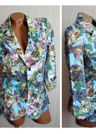 Цветные жаккардовые пиджаки женские. пиджак женский, 44 размер