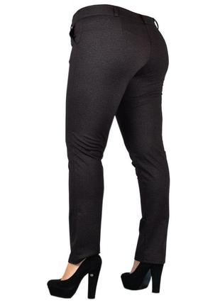 Теплые женские брюки больших размеров.