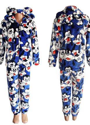 Теплые детские пижамы, домашние костюмы детские махровые.