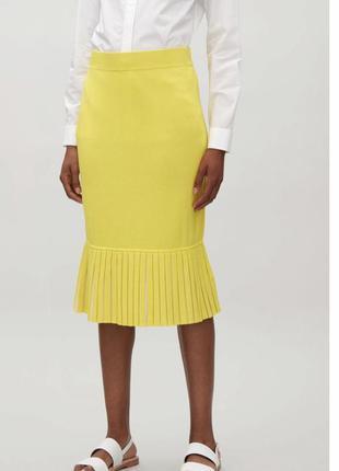 Новая стильная миди юбка, юбка-годе cos