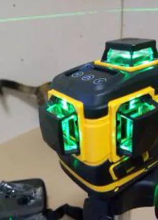 Лазерный уровень Hilda 360 зеленый луч 3D