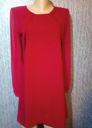 Шикарное, красное платье. h&m, как новое