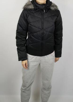 Черная куртка пух перо columbia оригинал
