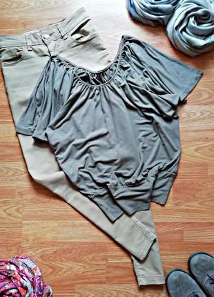 Женская комфортная туника - футболка италия - размер 44-46