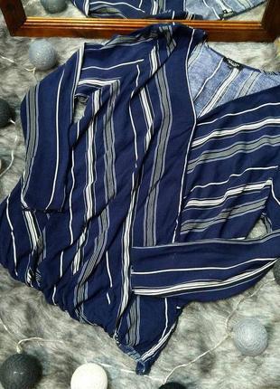 Свободная блуза на запах из натуральной вискозы new look