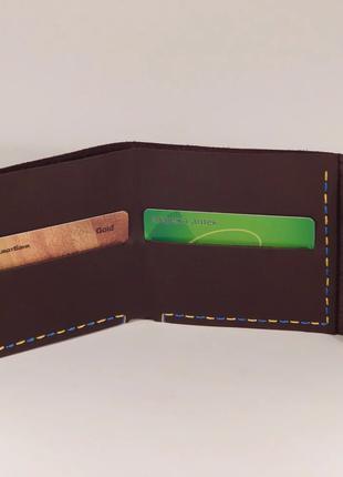 Гаманець кошелек «Forto», натуральна шкіра, ручна робота, кожа
