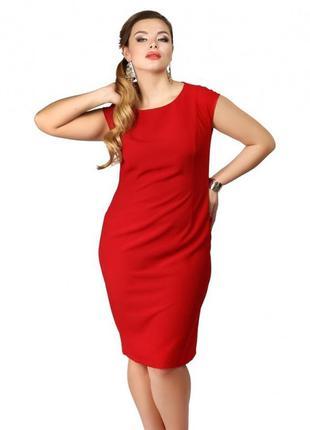 Платье мини 54  56 размер бюстье офисное нарядное футляр офисное