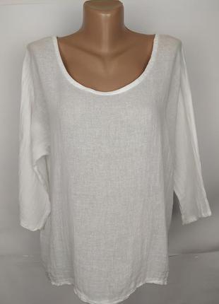 Блуза белая красивая итальянская натуральная uk 14/42/l