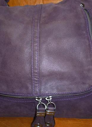 Стильная вместительная сумка натуральная кожа kesslord