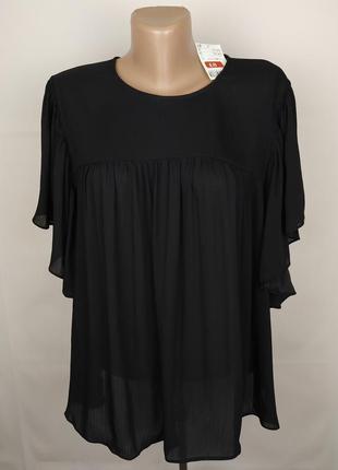 Блуза новая стильная черная h&m uk 12/40/m
