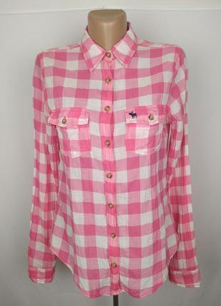 Блуза рубашка оригинальная красивая в клетку abercrombie&fitch...