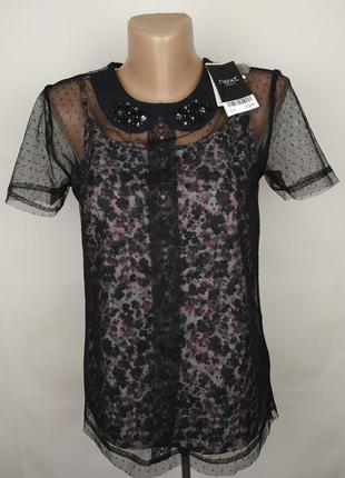 Шикарная нарядная легкая блуза next uk 6/34/xs