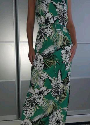 Платье макси с цветочным принтом F&F