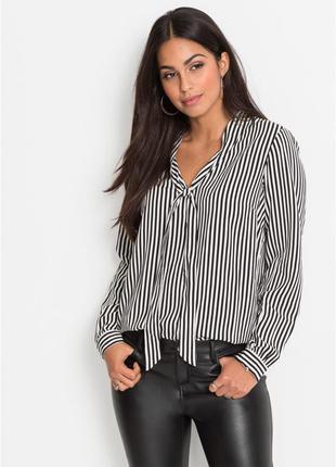 Блуза в полоску. шифоновая рубашка h&m