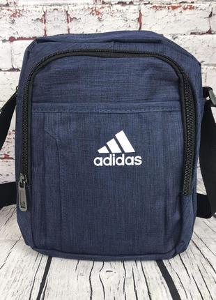 Спортивная сумка-барсетка через плечо adidas .тканевая сумка. ...