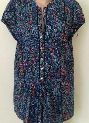 Натуральная блуза-туника с притом debenhams