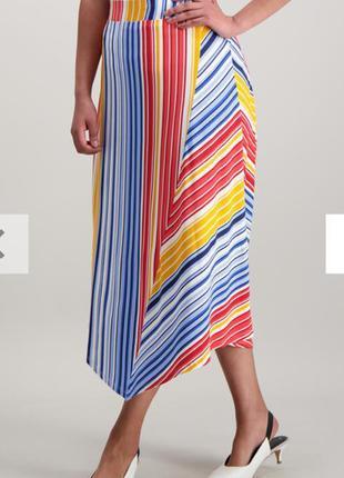 Очень красивая трикотажная ассиметричная юбка 14/48-50 размера