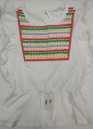 Футболка h&m блузка для девочки 4-6 лет
