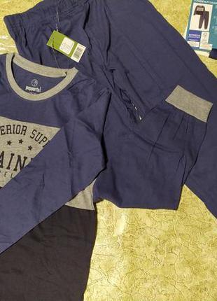 Фирменные лонгслив и штаны для дома и сна на мальчика 9-10 лет