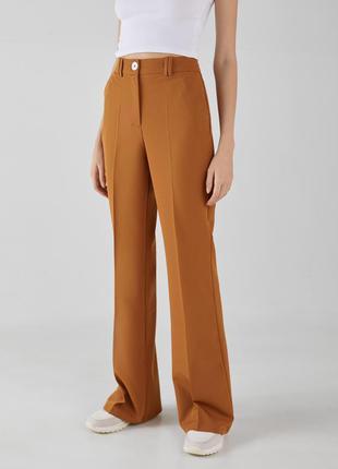 Актуальные брюки клёш высокой посадки в стиле 70ых bershka